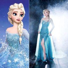 Hot Princess Frozen Queen Elsa Costume Cosplay Adult Size s M L Tulle Elsa Dress | eBay