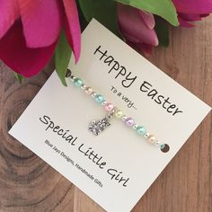 Personalised gifts for baby girls baby girl gifts personalised check out this adorable easter gift bracelet a great alternative to chocolate that little girls negle Choice Image