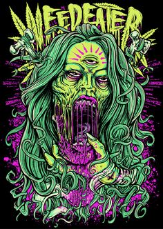 The Weedeater 💀🍁 weedmemes weedhumor weedporn weedgirls weed cannabis 420 cannabiscommunity thc photooftheday stonernation dabbing highsociety smokeweedeveryday smoking ganjagirls stoners marijuana cbd waxing wax cbdoil Zombie Kunst, Zombie Art, Arte Dope, Dope Art, Arte Horror, Horror Art, Dope Kunst, Arte Black, Marijuana Art