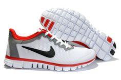 Nike Free 3.0 V2 Men's Running Shoes White/Black-Varsity Red