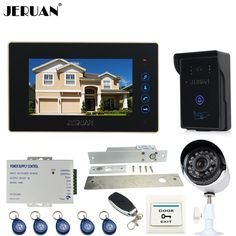 JERUAN  7 inch Video door Phone Entry intercom System kit waterproof RFID Access Camera  700TVL Analog Camera   remote control