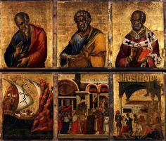 TRUE DEPICTION OF ISRAEL — St John the Evangelist, St Peter, and St Nicholas...