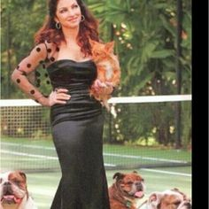 Gloria Estefan and Furbabies---Biggie, Isaac, Noelle and LuLu