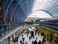LONDON , England - King's Cross Railway station  interior
