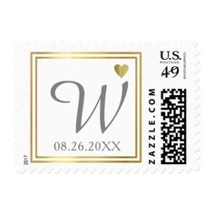 elegant wedding family initial love monogram postage - monogram gifts unique custom diy personalize