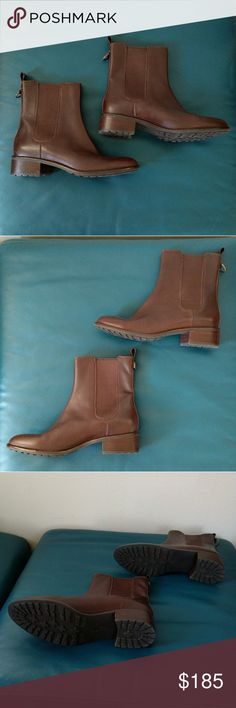 Selling this Cole Haan Size 10 Chocolate Ankle Boots on Poshmark! My username is: joannarose1. #shopmycloset #poshmark #fashion #shopping #style #forsale #Cole Haan #Shoes