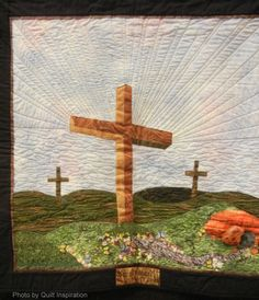 It is Finished / He is Risen by Mary L. Baughn.  2013 Arizona Quilters Guild show, original design.  Photo by Quilt Inspiration