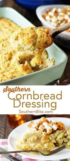 This classic Southern Cornbread Dressing is a simple easy recipe that's been passed down for generations! This classic Southern Cornbread Dressing is a simple easy recipe that's been passed down for generations! Cornbread Dressing With Sausage, Homemade Cornbread Dressing, Southern Cornbread Dressing, Cornbread Stuffing, Southern Dressing Recipe, Soul Food Dressing Recipe, Corn Bread Dressing Recipes, Easy Dressing Recipe, Healthy Recipes