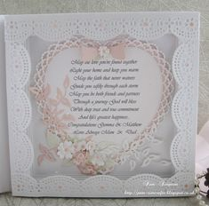 Wedding book card.