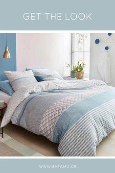 Traumhaft schöne Bettwäsche aus 100% Baumwolle sorgt für einen frischen Look im Schlafzimmer // Bettwäsche modern, moderne Bettwäsche, Bettwäsche Design, Bettwäsche Blau, Schlafzimmer Bettwäsche, Schlafzimmer Ideen, Bettwäsche Muster #SchlafzimmerIdeen #Bedding #Bedroom #Blau #Design #Bettwäsche Comforters, Blanket, Home Decor, Furniture, Instagram, Lush, Cushions, Bedroom Bed, Interior