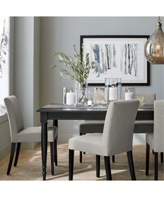 Lowe Pewter Upholstered Dining Chair | Crate and Barrel