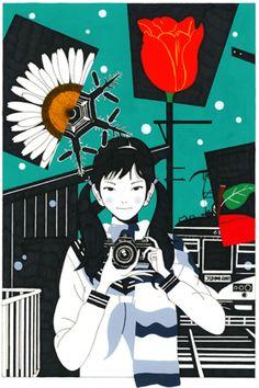 カメラ Art And Illustration, Illustrations Posters, Muse Kunst, Character Art, Character Design, Different Art Styles, Muse Art, Japan Art, Fantastic Art