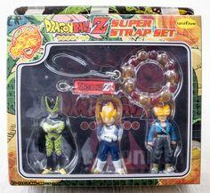 Dragon Ball Z Super Strap Set Figure Trunks Vegeta Cell Unifive JAPAN ANIME