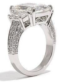 Radiant diamond antique ring
