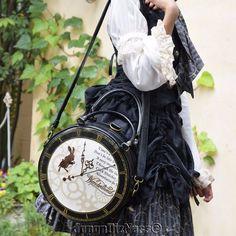 New Japan Disney Store Alice in Wonderland Time Journey Shoulder Tote Hand Bag…