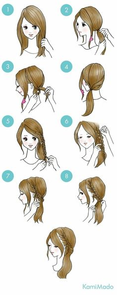 Easy Everyday Hairstyles Step By Step For Girls Gym Route Frisuren Easy Everyday Hairstyles, Cute Simple Hairstyles, Trendy Hairstyles, Braided Hairstyles, Braided Ponytail, Easy Hairstyles For School, Hairstyles Videos, Updo Hairstyle, Diy Tresses