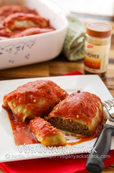 Vegan Yack Attack: Golabkis, Polish Stuffed Cabbage. Sometimes, I feel as though I don't get culinary inspiration from my heritage as much as I should. You see, I am half Polish, and the second generation to be born in the US.