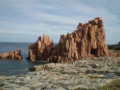 rocce rosse, Arbatax View Map, Nara, Land Scape, Monument Valley, Grand Canyon, Places, Water, Travel, Outdoor