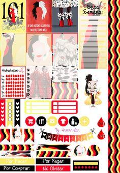 Cruella Deville Planner Stickers by AnacarLilian