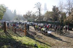 Los ciclistas del pedaleo al bosque