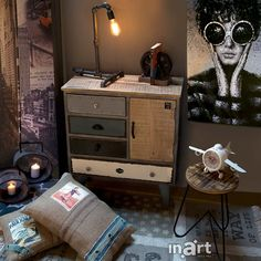 Industrial style by inart.com  If you smile when no one else is around, you really mean it. #HomeDecor #Decor #Decoration #Deco #inart1985