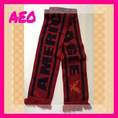 American Eagle Scarf Red and Blue American Eagle Outfitters Accessories Scarves & Wraps