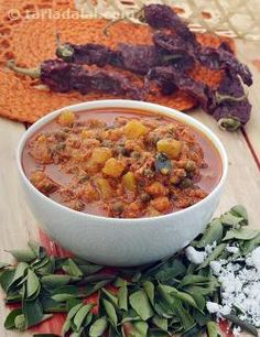 Kootu is a popular way of preparing veggies in Tamil Nadu. In fact, on special occasions, a dry subzi and a kootu must be served compulsorily as part of the meal.    Kootu is a semi-solid curry of veggies and pulses or beans, enriched with a paste of coconut and spices, and tempered traditionally