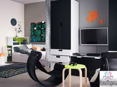 black and white room for boys 30 Cool Boys Room Paint Ideas boys room black-and-white-room-for-boys