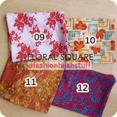 FHS Floral Square (Segi4) bahan katun adem, mudah dibentuk IDR 40000