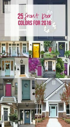 25 Front Door Colors for 2016 - Happily Ever After, Etc.