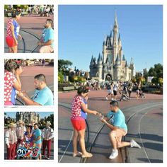 Proposed perfectly perfect. In love #Engaged.  Disneyworld Castle #princess feeling