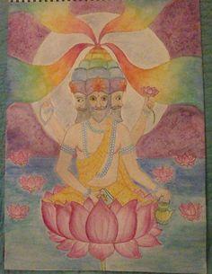 Waldorf ~ 5th grade ~ Ancient India ~ Brahma ~ main lesson book