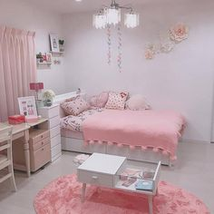 guest bedroom couples bedroom bedroom makeovers rustic bedroom his and her bedroom ideas inspiration bedroom bedroom col Cute Bedroom Ideas, Room Ideas Bedroom, Small Room Bedroom, Dorm Room, Bedroom Decor, Kids Bedroom, Master Bedroom, Pink Bedroom Design, Girl Bedroom Designs