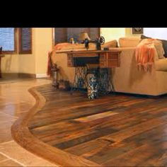 Love this flooring idea!