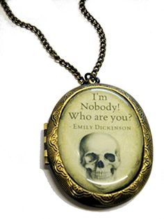 Fallen Saint I'm nobody who are you? Cameo Locket Necklace