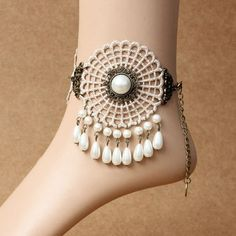 $4.10 Stylish Pearl Pendant Anklet For Women