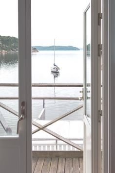 The view from our room at Slussens Pensionat | The ultimate West Sweden road trip itinerary. What to see and do on the picturesque islands of Marstrand, Orust, and Tjörn