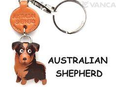 Berger Australien en cuir pour chien Petit Porte-clés VANCA craft-collectible Porte-clés fabriqué au Japon: AAA Products porte-clés…