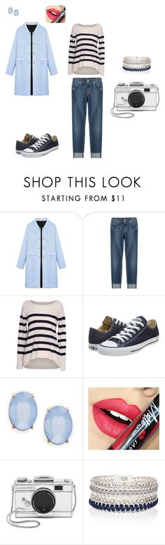 """""""#dz#2"""" by elenn-2104 on Polyvore featuring мода, WithChic, 7 For All Mankind, Velvet by Graham & Spencer, Converse, Cara, Fiebiger, Kate Spade, River Island и women's clothing"""