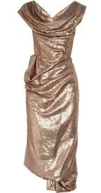 Vivienne Westwood gold label... covered in bronze paillettes....