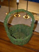 Green flower girl basket