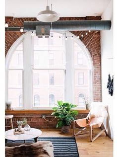 Warehouse arc windows and exposed brick - the exact reason I NEED a warehouse apartment