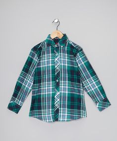 Blue Stripe Button-Up - Toddler & Boys by Elie Balleh on #zulily