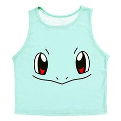 ROPALIA Women Casual Cartoon Tank Top Vest Summer Sleeveless Blouse Crop T-Shirt