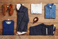 indigo workwear