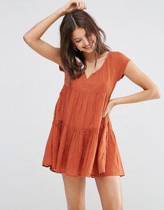 Image 1 ofASOS Tiered Smock Beach Dress