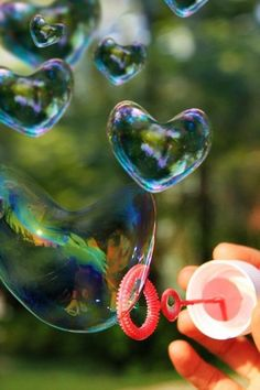 Just making bubbles.