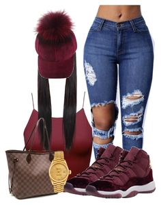 """""""Candy Velvet"""" by officially-beautiful ❤ liked on Polyvore featuring Louis Vuitton and Rolex"""