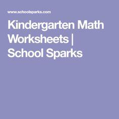 Kindergarten Math Worksheets | School Sparks
