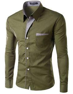 Long Sleeve Slim Men Shirt (13 Colors) Long Sleeve Fitted Dress, Fitted Dress Shirts, Long Sleeve Shirts, Business Casual Dresses, Business Casual Men, Casual Shirts For Men, Men Casual, Stylish Shirts, Casual Tops